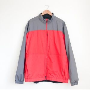 Nike Golf Storm Fit Windbreaker XL Red and Gray